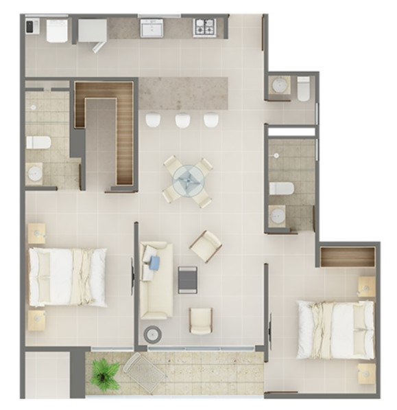 Apartment type 3